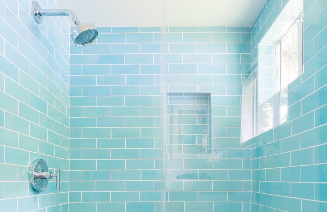 Blue Subway Tile Niche