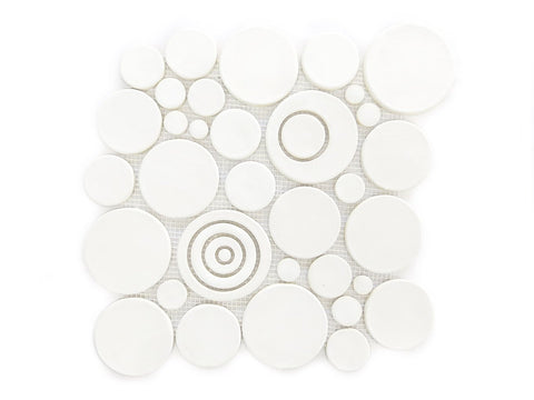 White Bubble Ceramic Tile