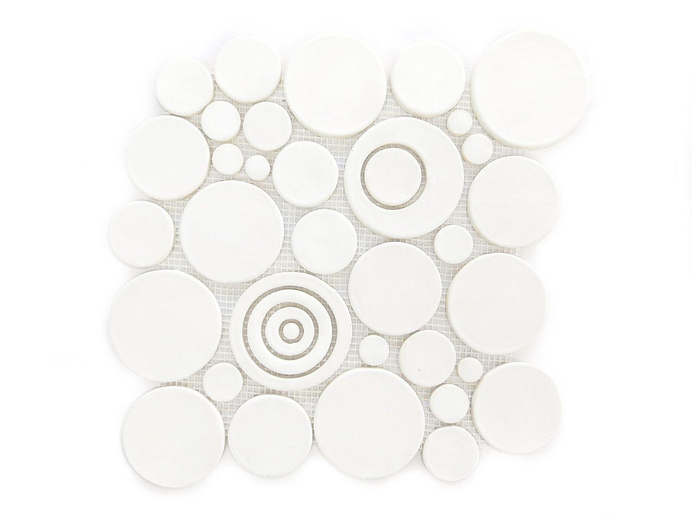 Bubbles Sheet Tile 11 Deco White