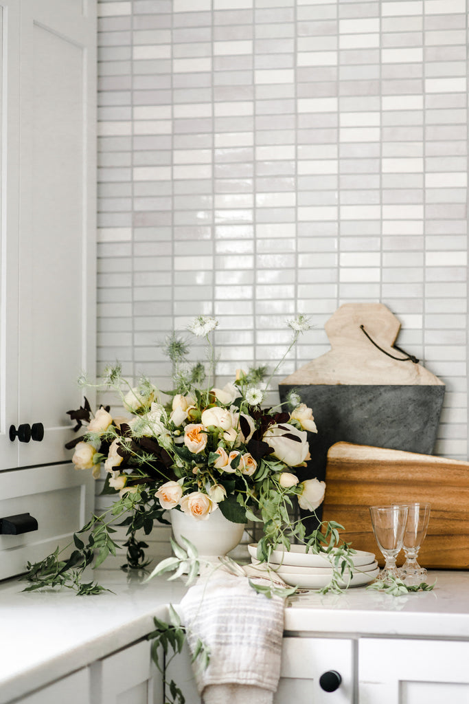 light ombre tile wall