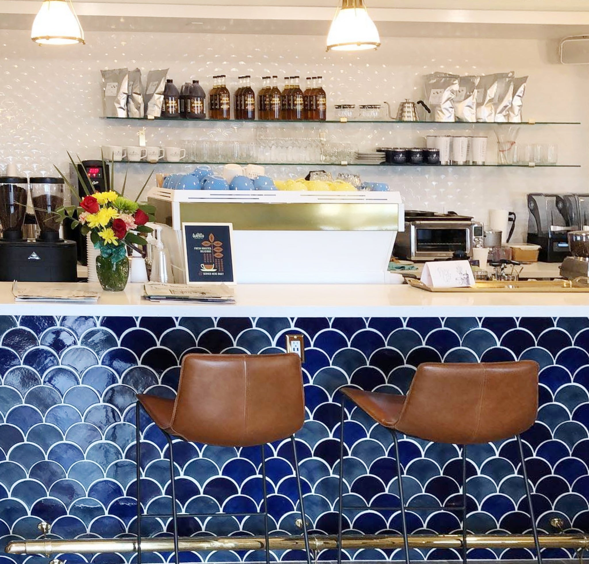 Coffee Shop Open Shelving Moroccan TiIe