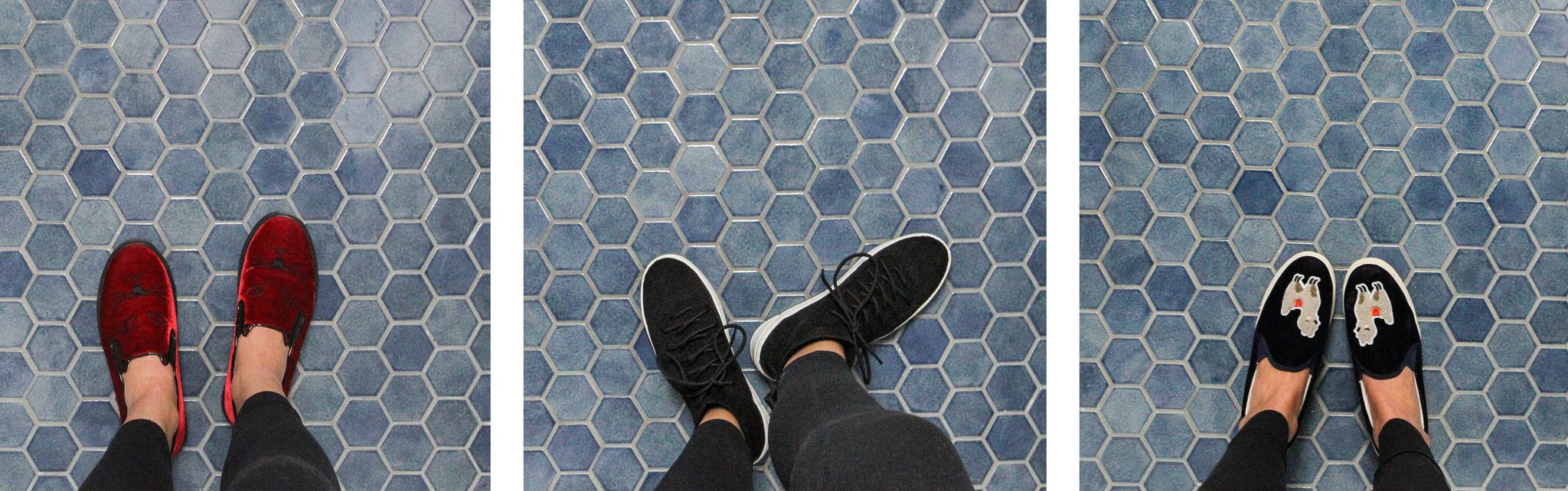 Denim Hexagon Floor Tile