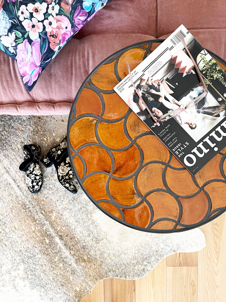 Doro End Table in Rust