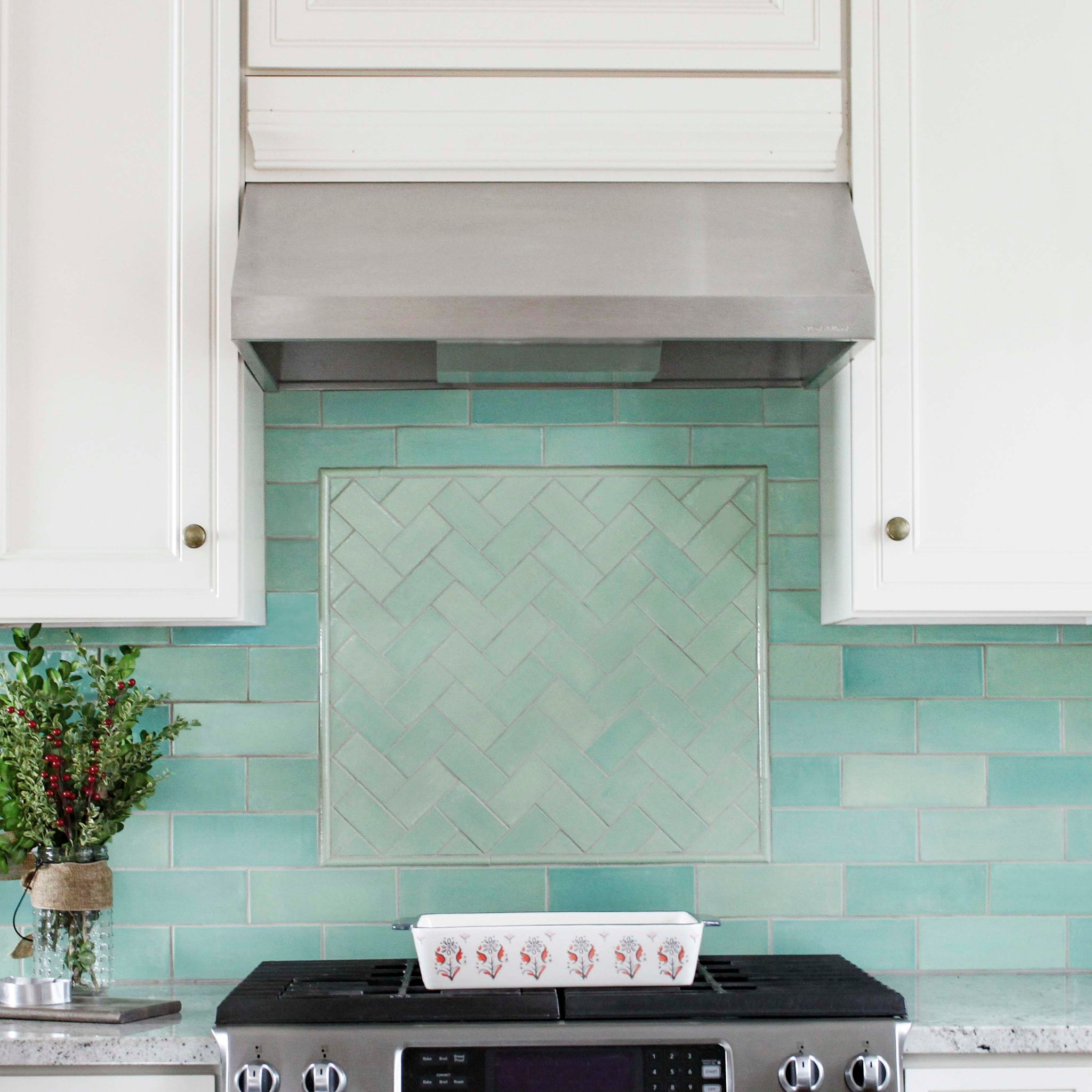 Dream Kitchen Green Tile
