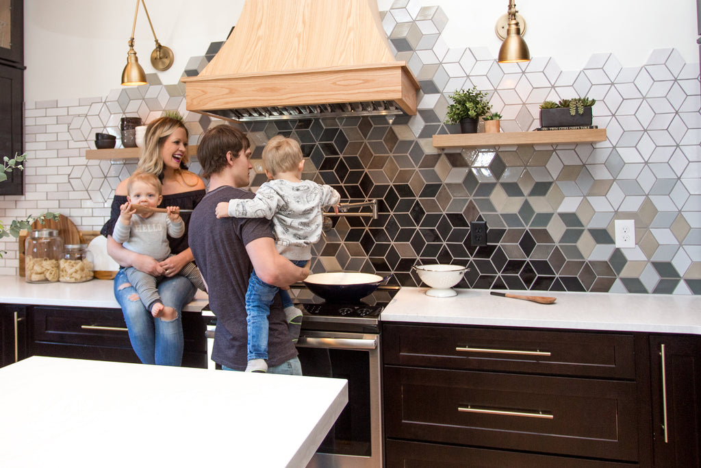 Construction 2 Style Diamond Backsplash
