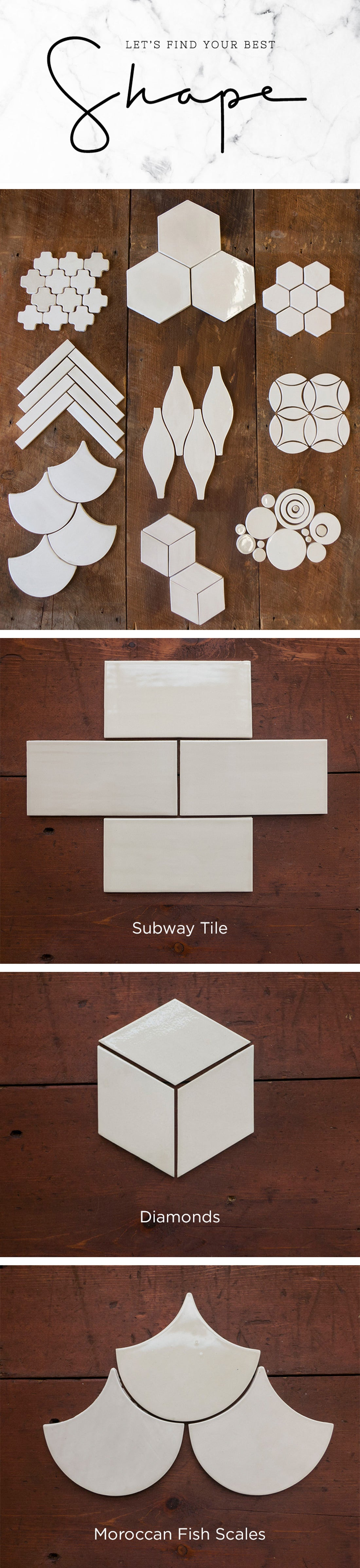 FindyourbestshapePinterest Let's Find Your Best Shape - For Tile All Residential Tile Inspiration