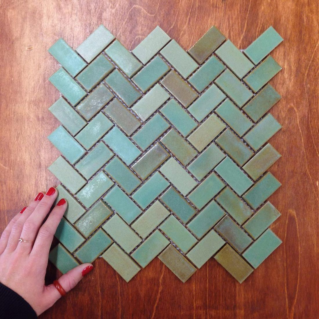 Why People Are Falling In Love With Herringbone Tile