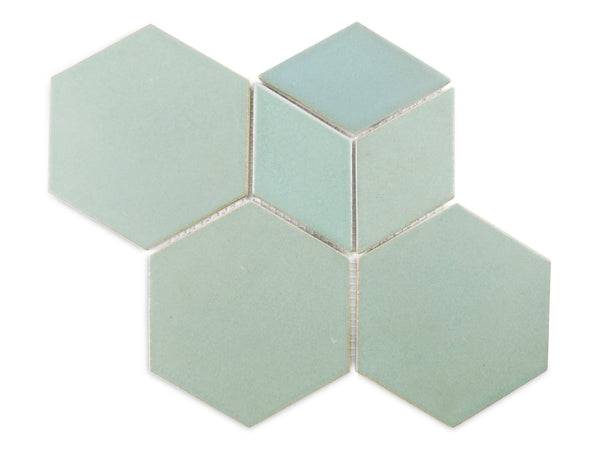 Hexagon Diamonds Mix Pattern 913 Old Copper