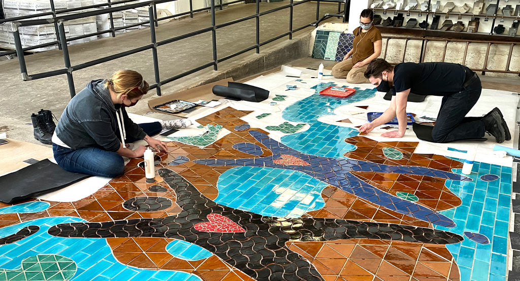 University of Minnesota Broadway Clinic Alive and Well Mural Production