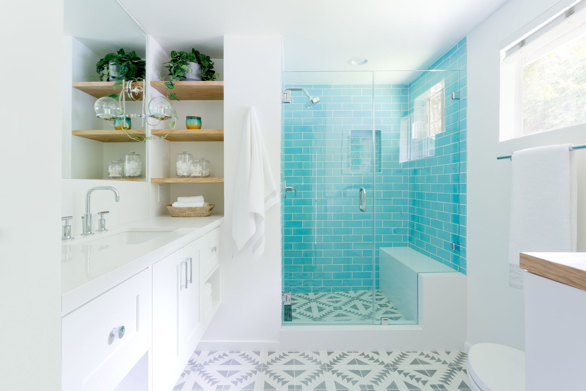 Before & After: California Style Bathroom | Mercury Mosaics