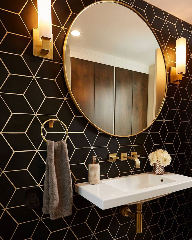 Black Diamond Tile Vanity
