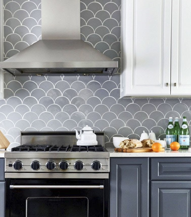 Gray Fish Scale Tile