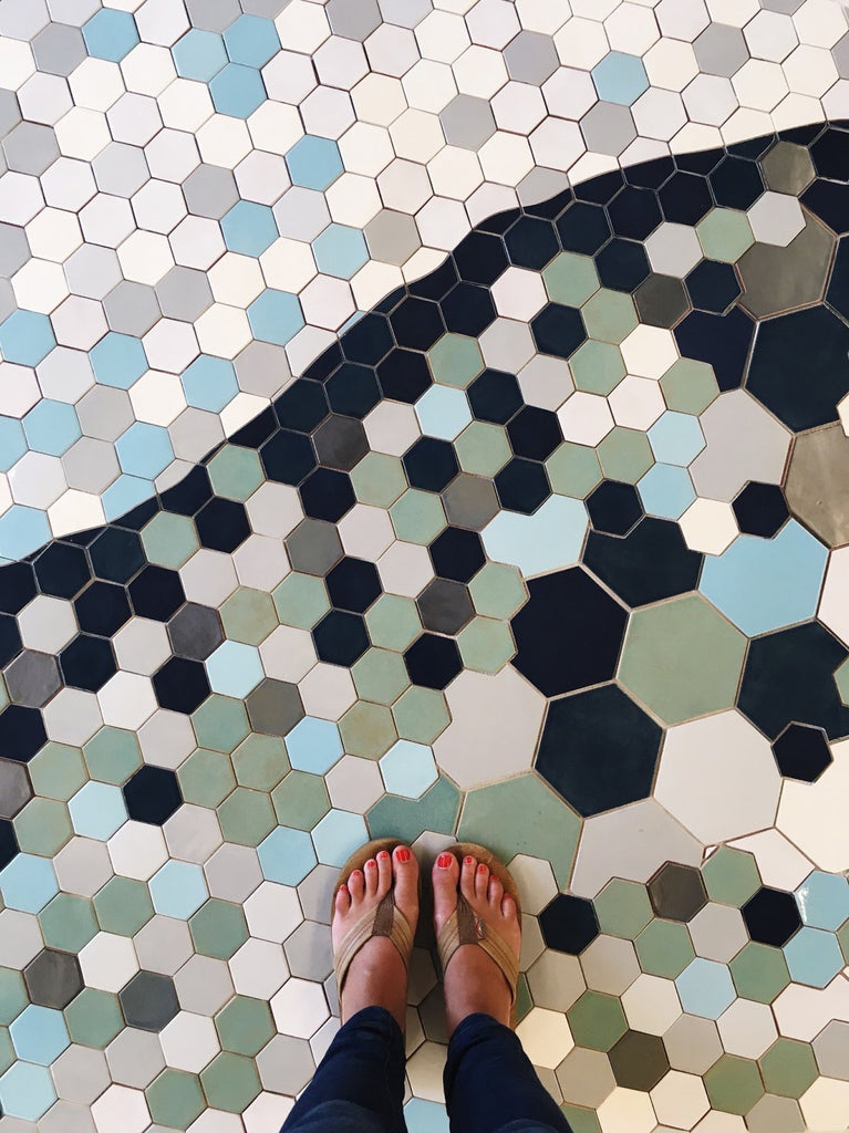 Hexagon Custom Tiled Floor