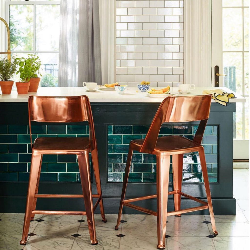 Bluegrass Subway Tile Kitchen Island
