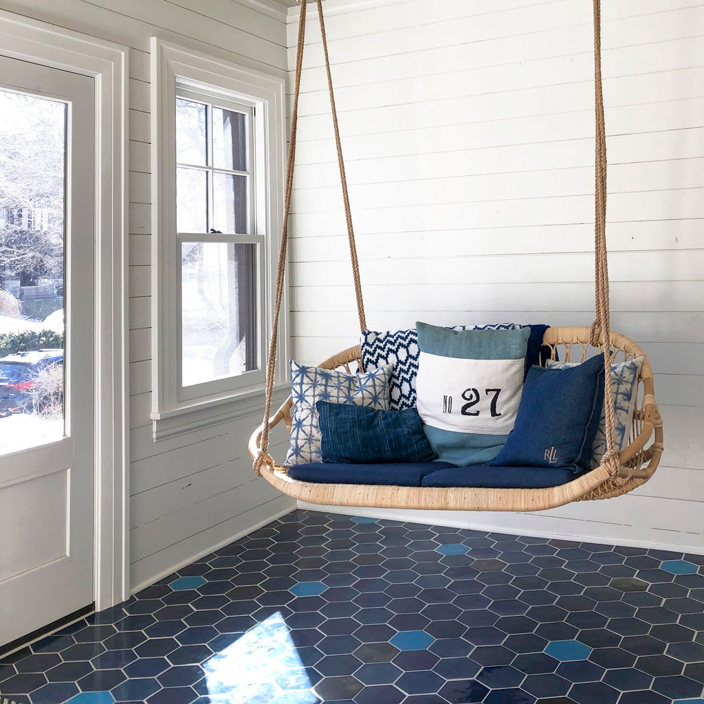 Denim Blue Hexagon Floor