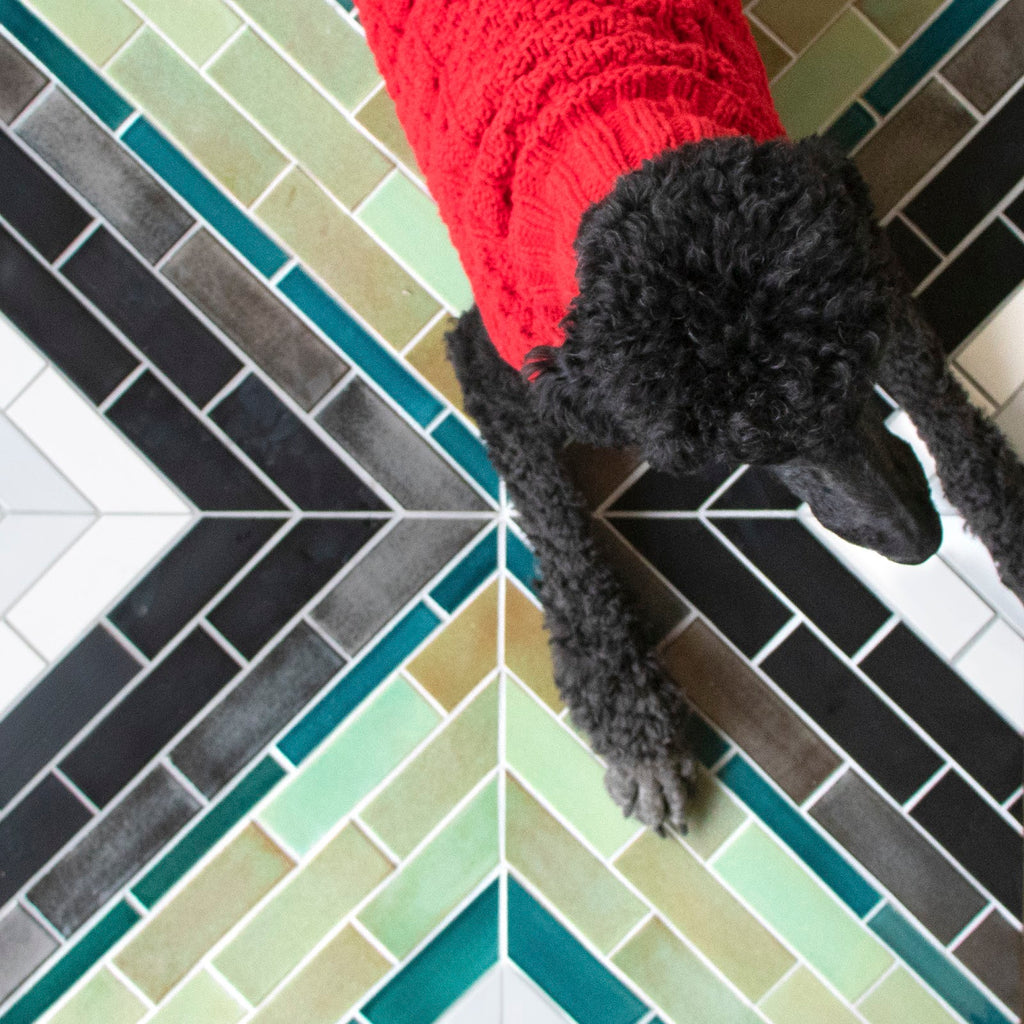 Custom Subway Tile Colorful Floor