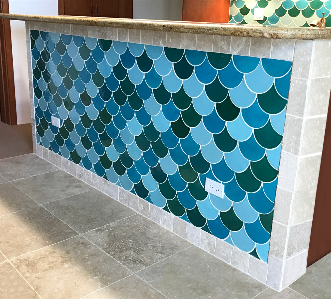 6 Ways to Tile Your Kitchen Island – Mercury Mosaics