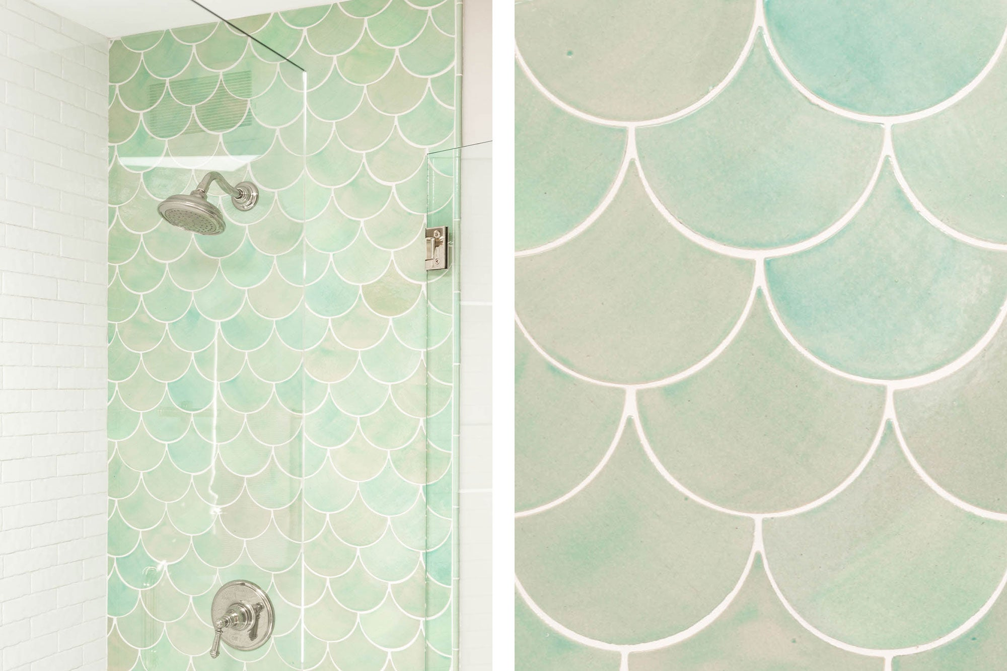 Light Green Scalloped Tile