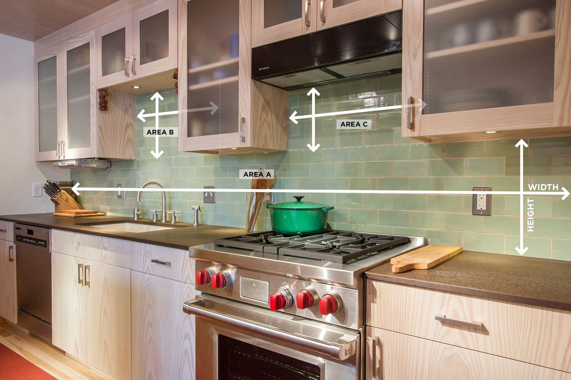 - How To Measure Your Kitchen Backsplash – Mercury Mosaics