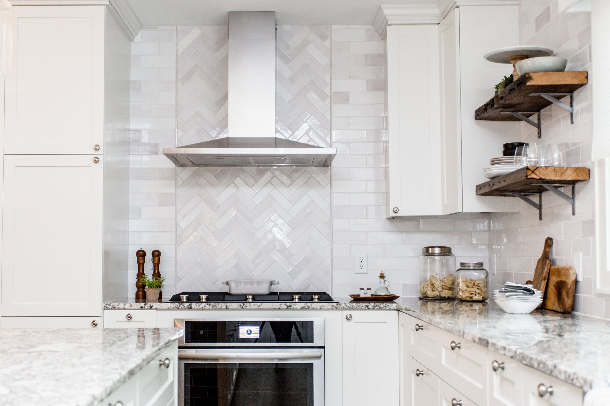 Mid-Century Modern Kitchen Backsplash