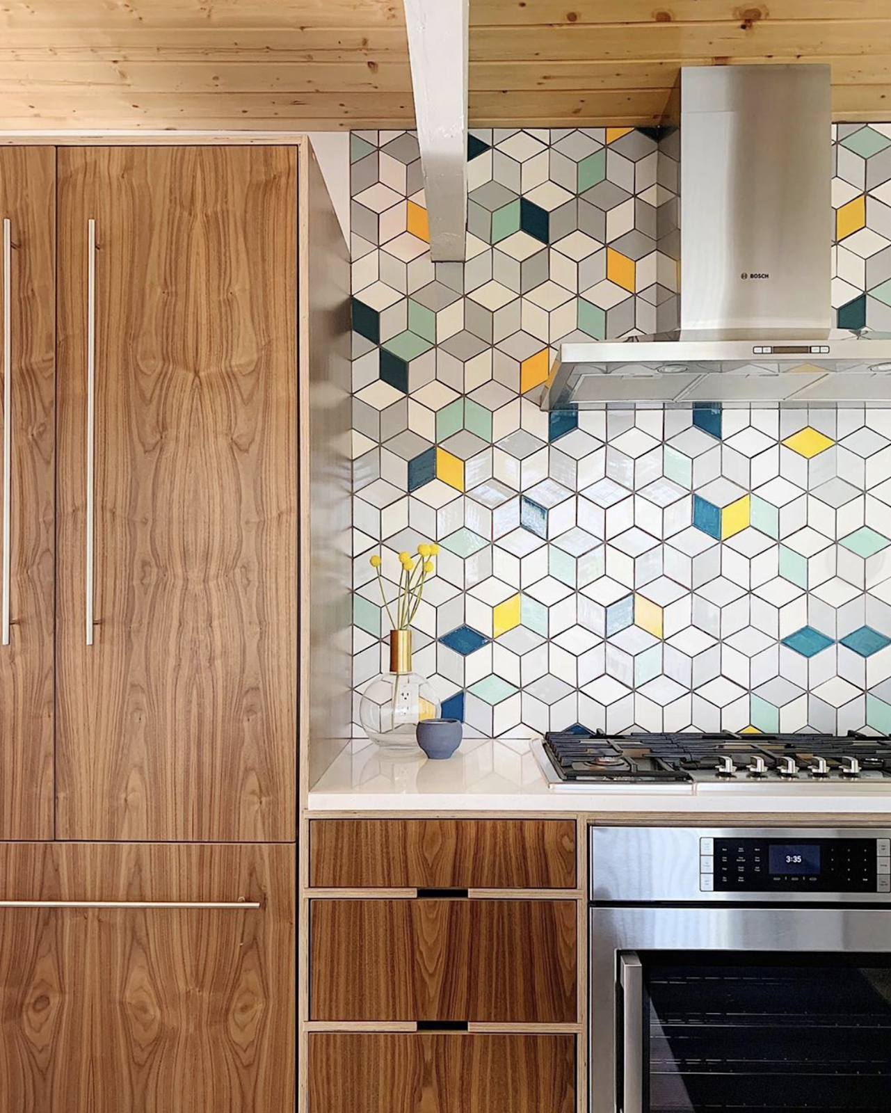 Mid-Century Modern Kitchen Tile Design
