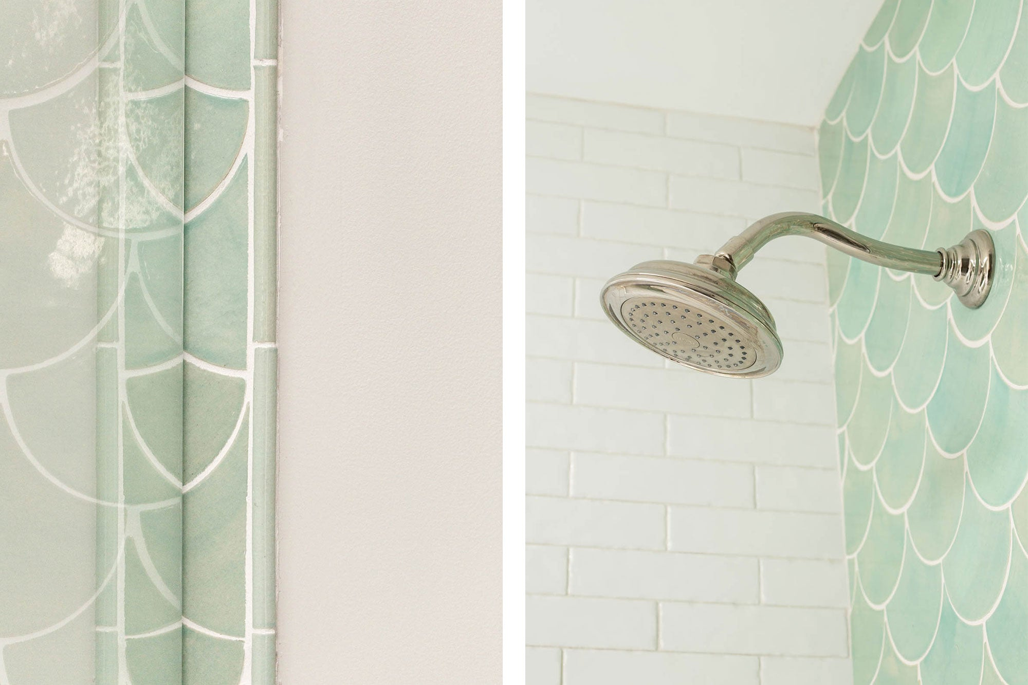 Morrocan Fish Scale Shower Tile