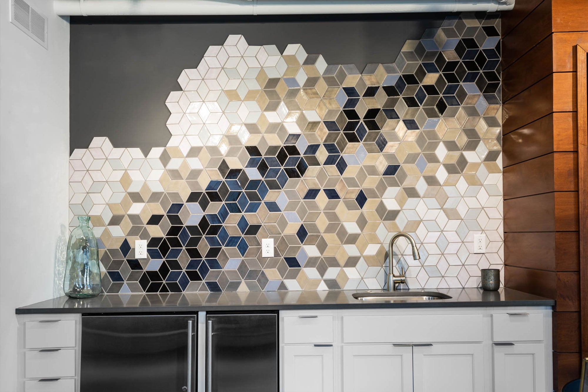 Mosaic Ceramic Tile Backsplash
