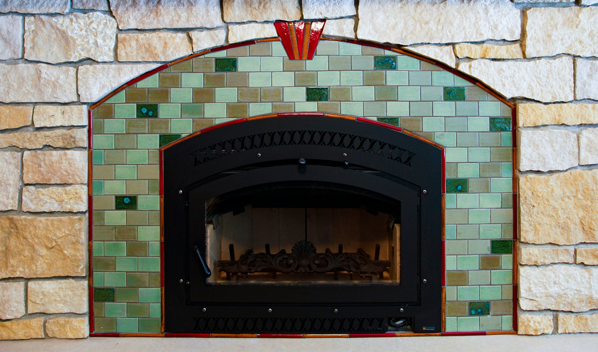 Mosaic Fireplace Surround