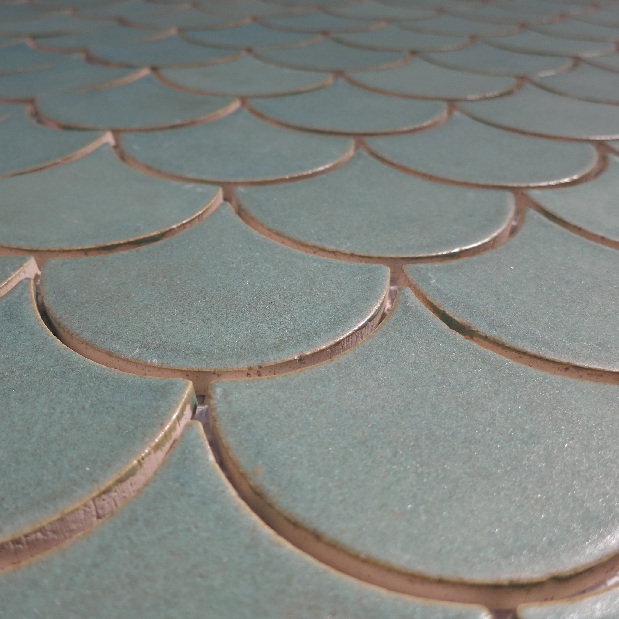 Old Copper Moroccan Fish Scale Tile