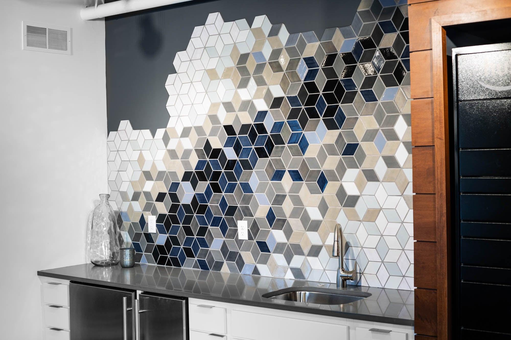 Ombre Statement Tile Backsplash