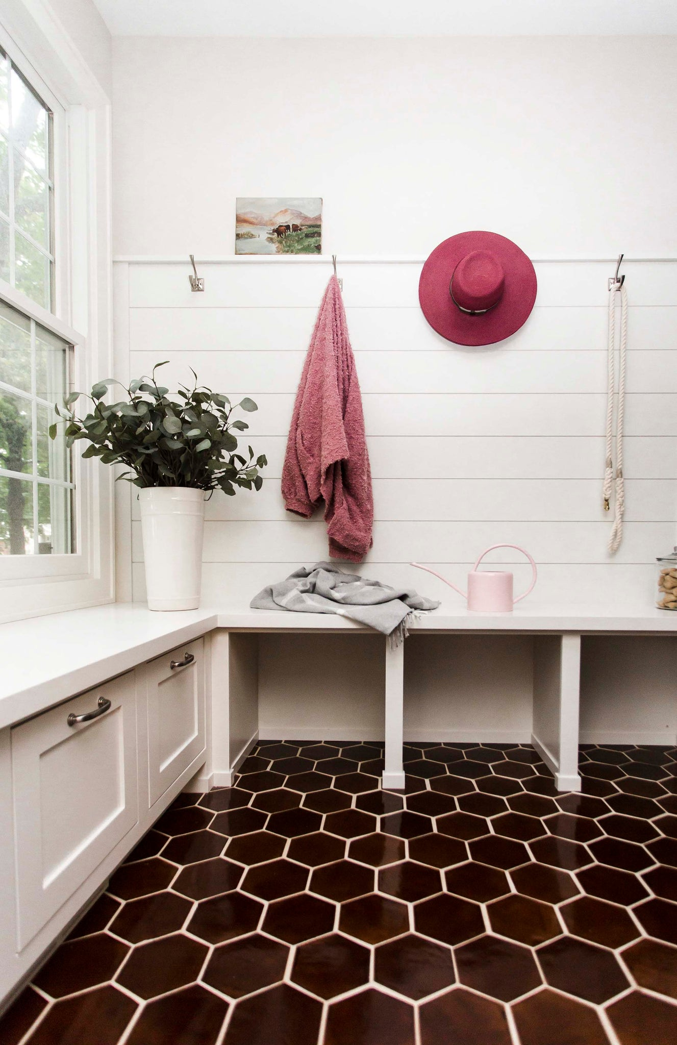 Orange Tile Mudroom Inspiration