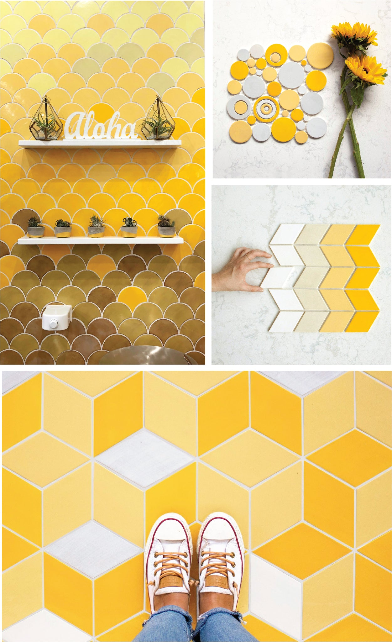 2021 Pantone Color of the Year Yellow Tile Ideas