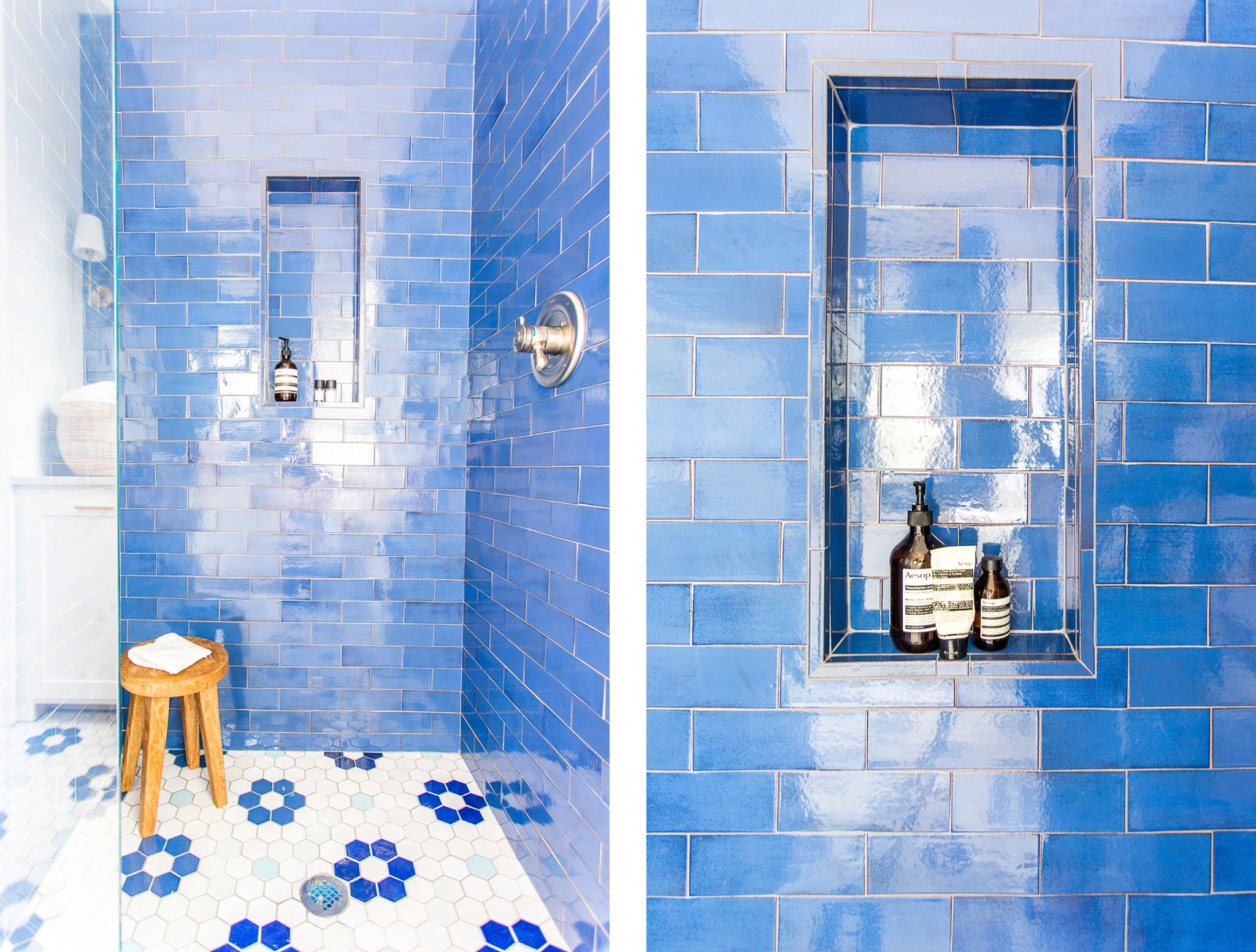Mixed Pacific Blue Glimmer Glass tile. https://www ...