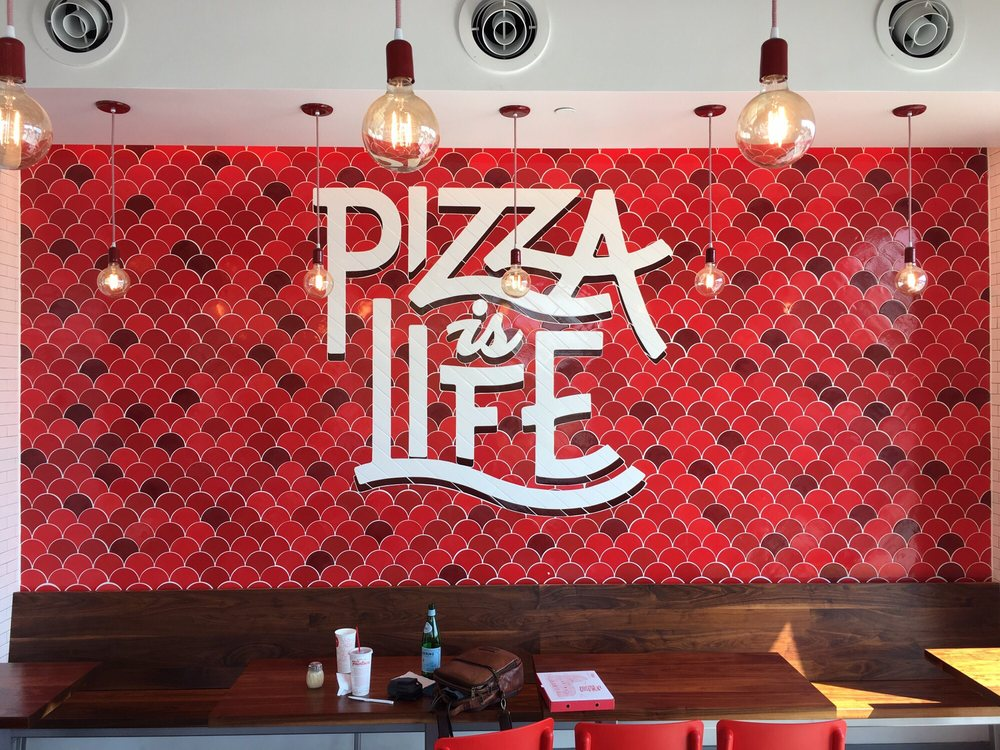 Pizza is life tile typography
