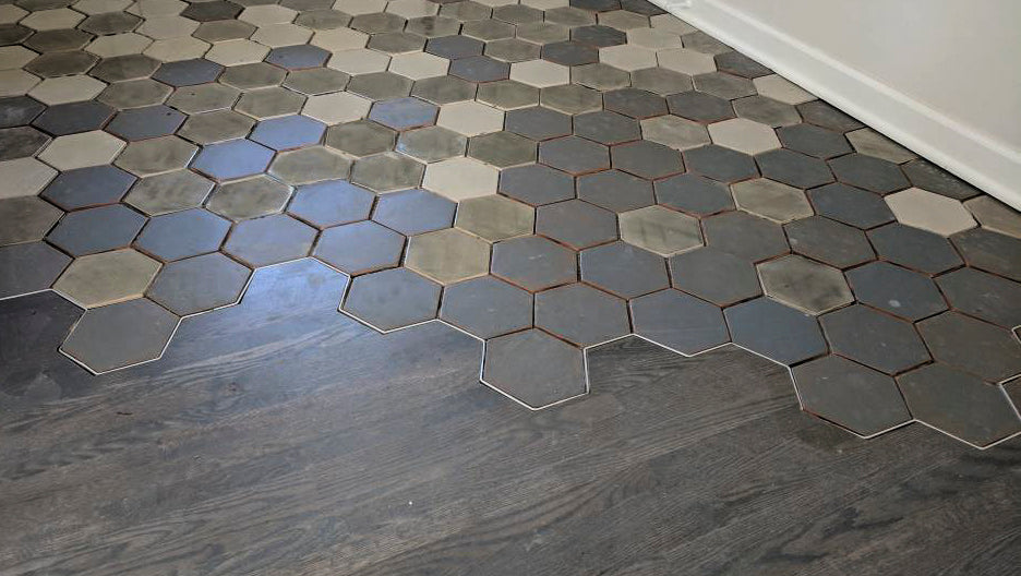 How-To Floor Transition From Tile to Wood - Mercury Mosaics