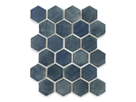 Regular Denim Hexagon tile