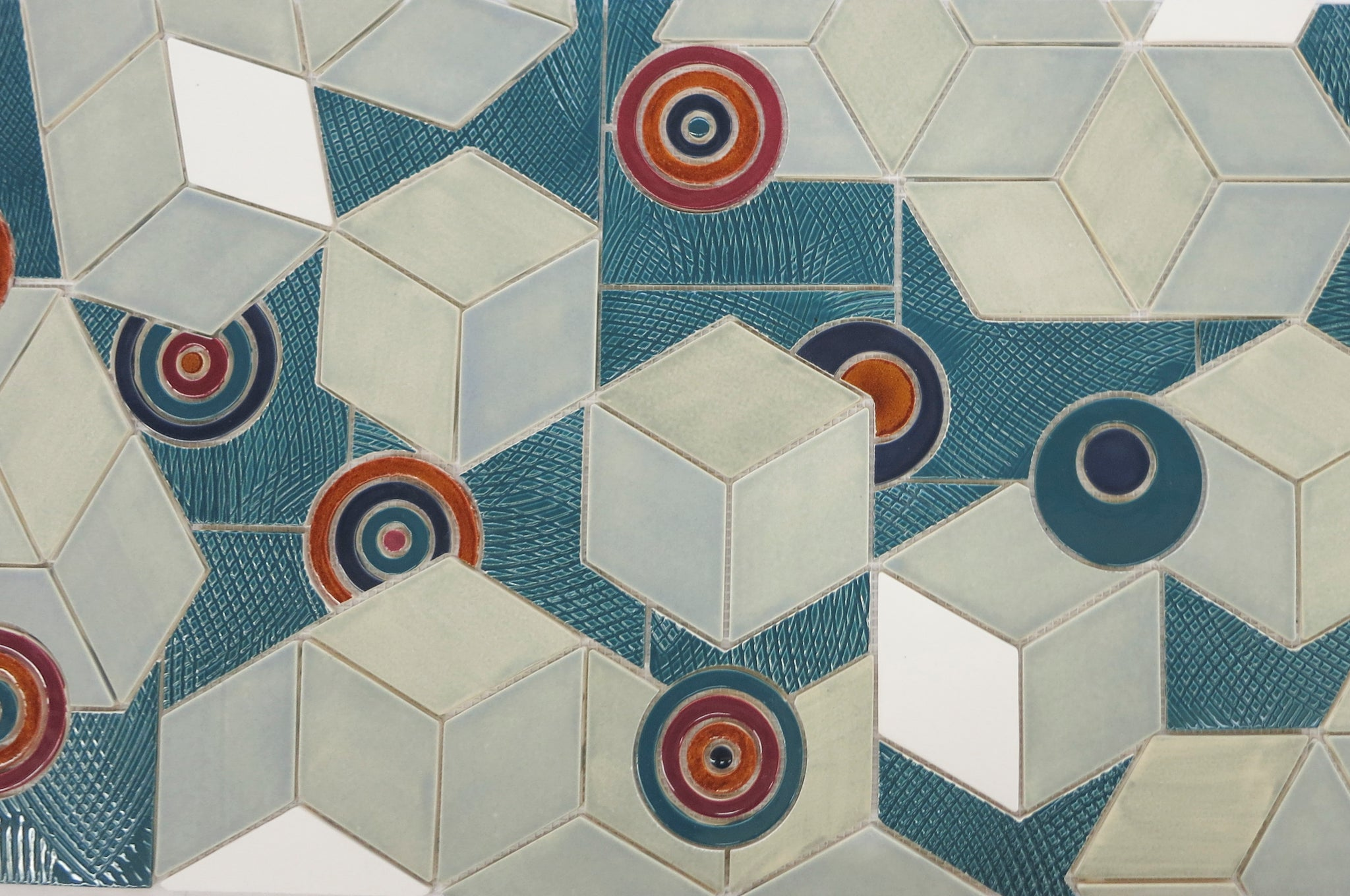 Retro Geometric Tile Pattern