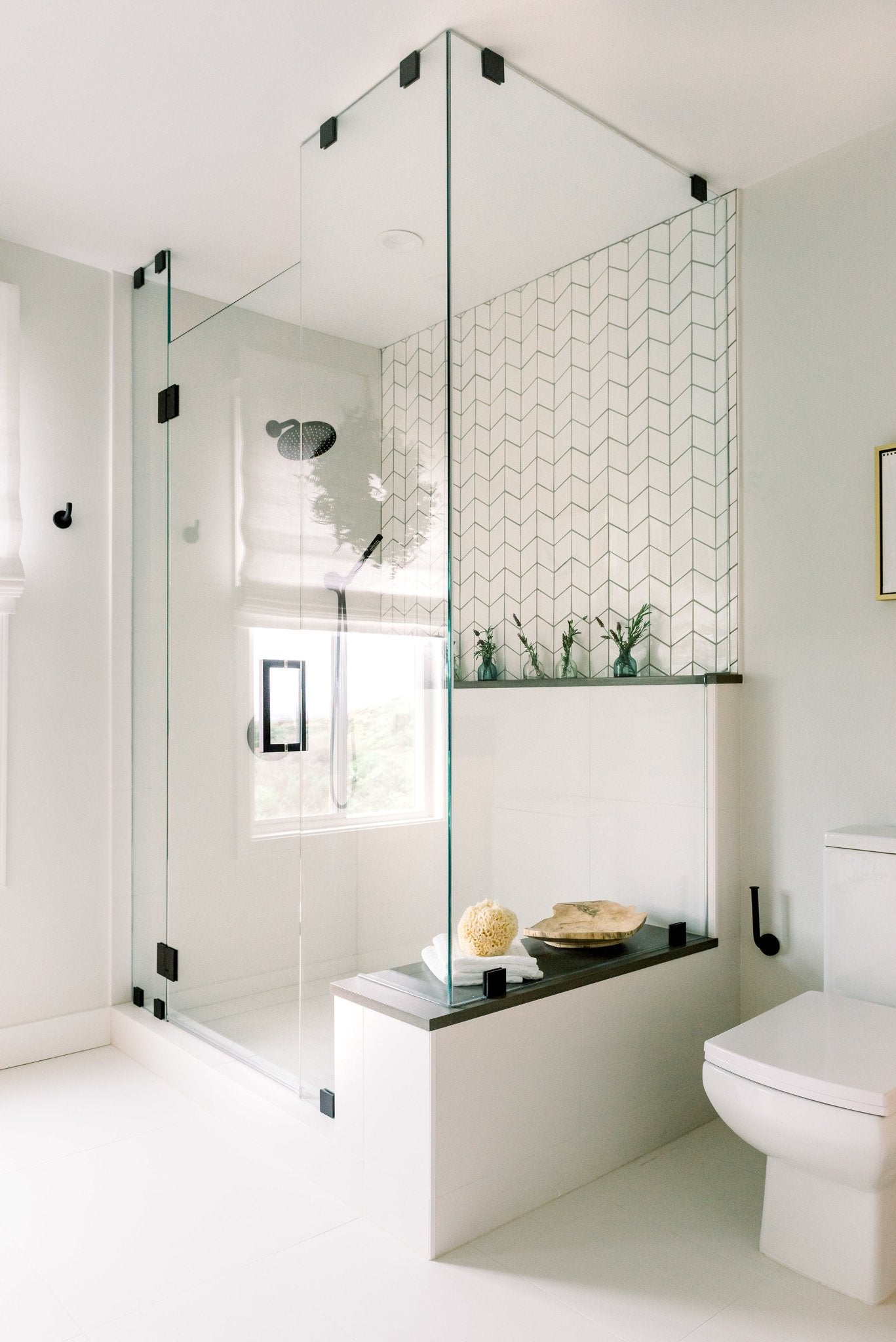 Contrasting Grout - Diamond Shower Tile