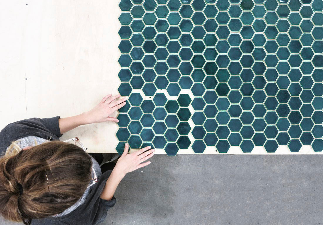 Small Deep Teal Hex Tile Specs
