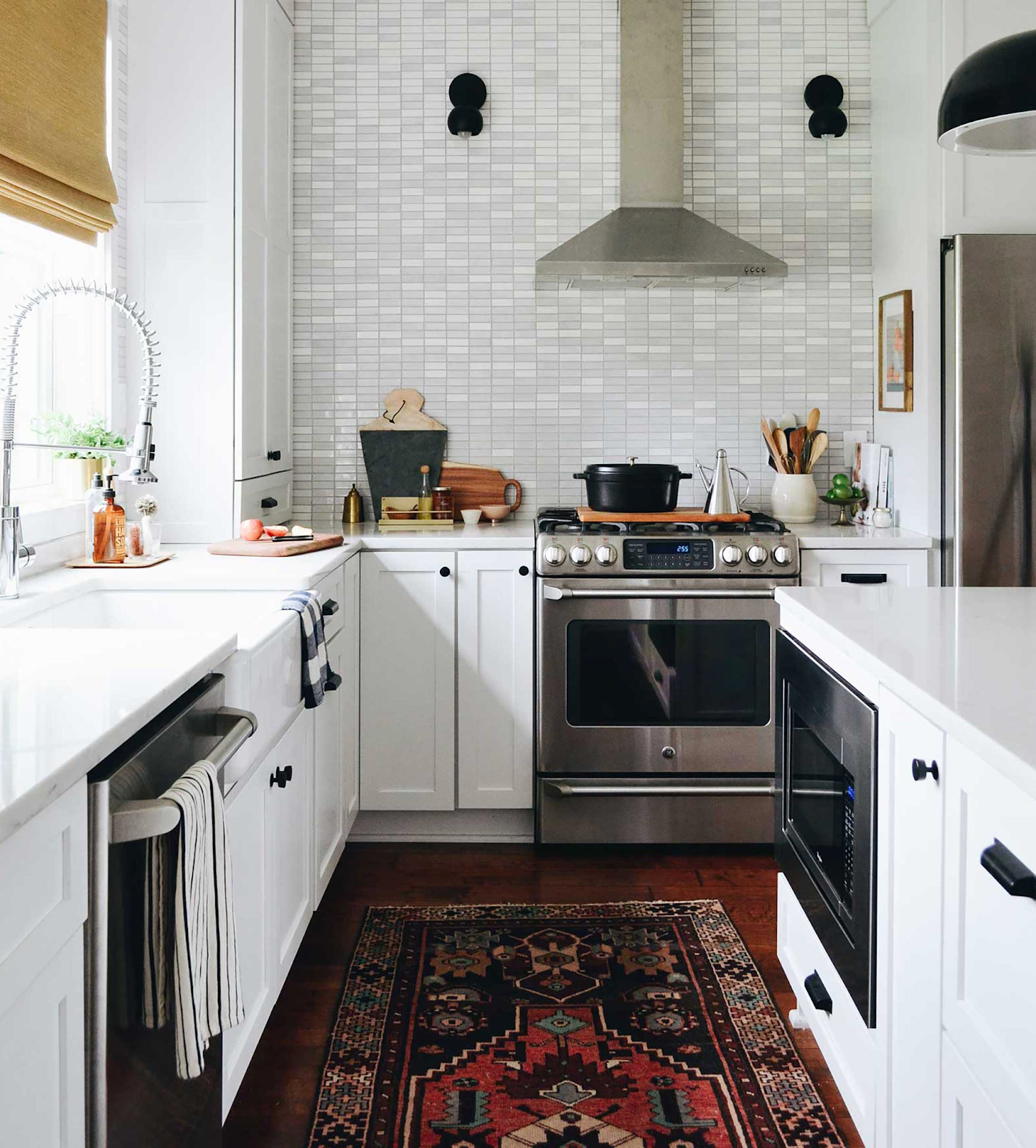 Small Subway Tile Kitchen Backsplash