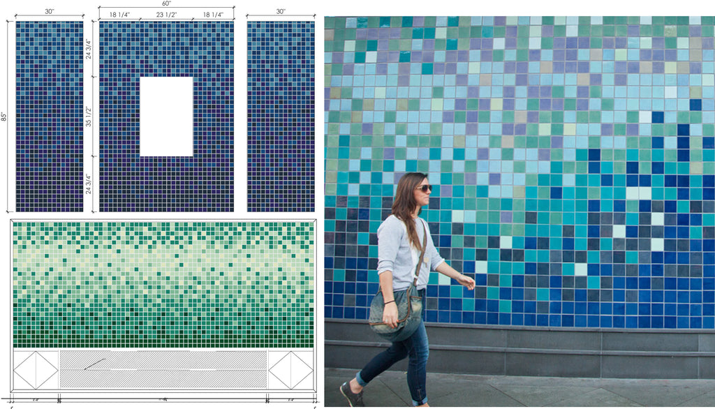 Stacked Square Tile Inspiration