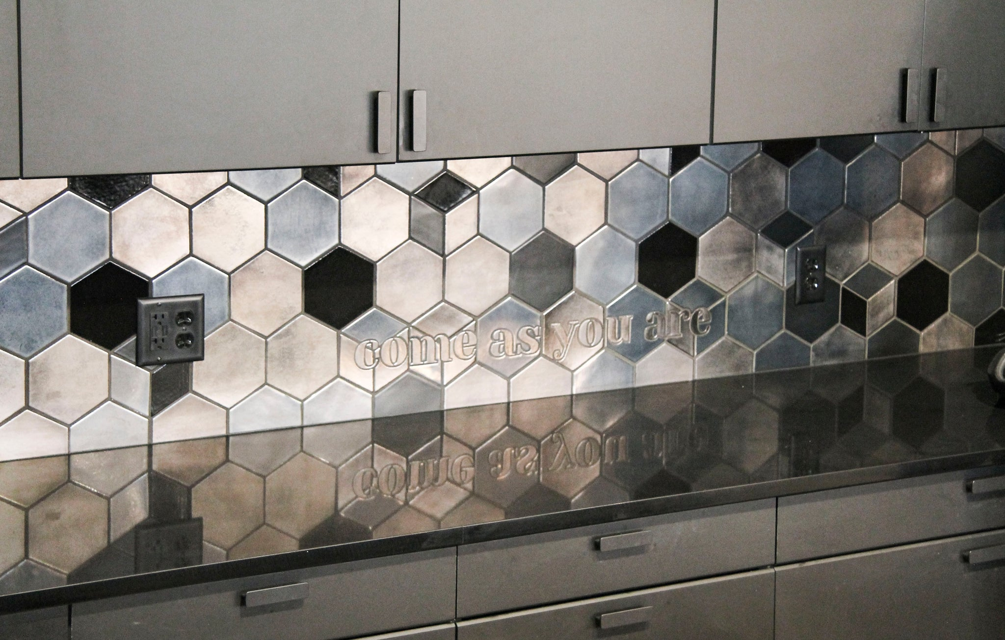 Steller Hair Co Statement Ceramic Backsplash