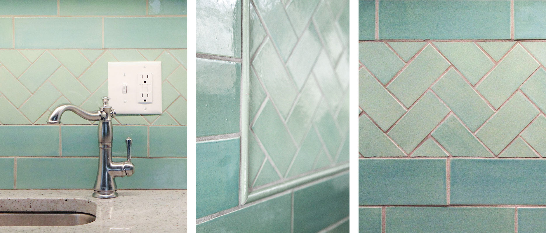 Teal Kitchen Backsplash Tile Detail