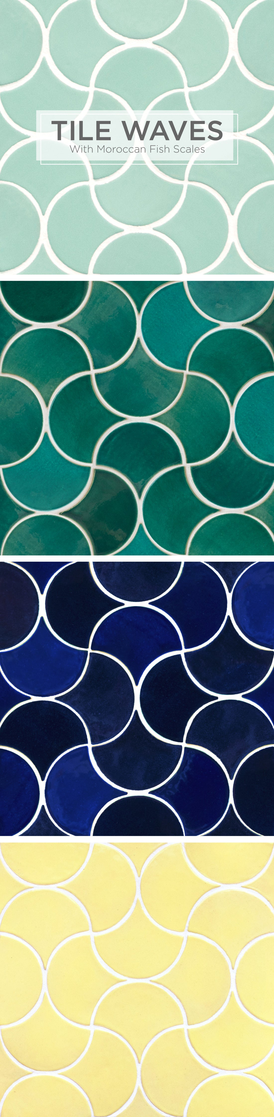 Tile-Waves-092716-1 Make Tile Waves with Moroccan Fish Scales All Residential Tile Inspiration
