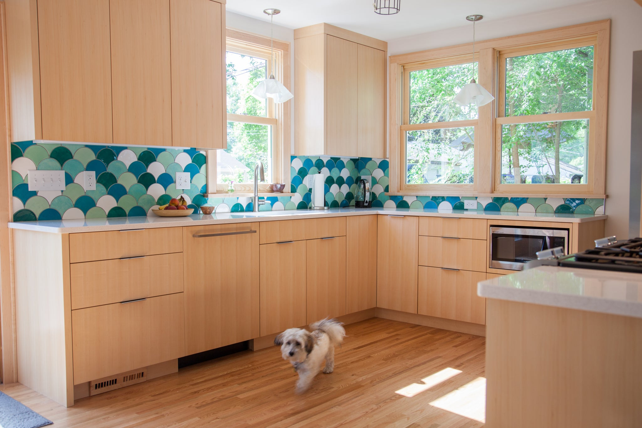 Tropical Kitchen Backsplash