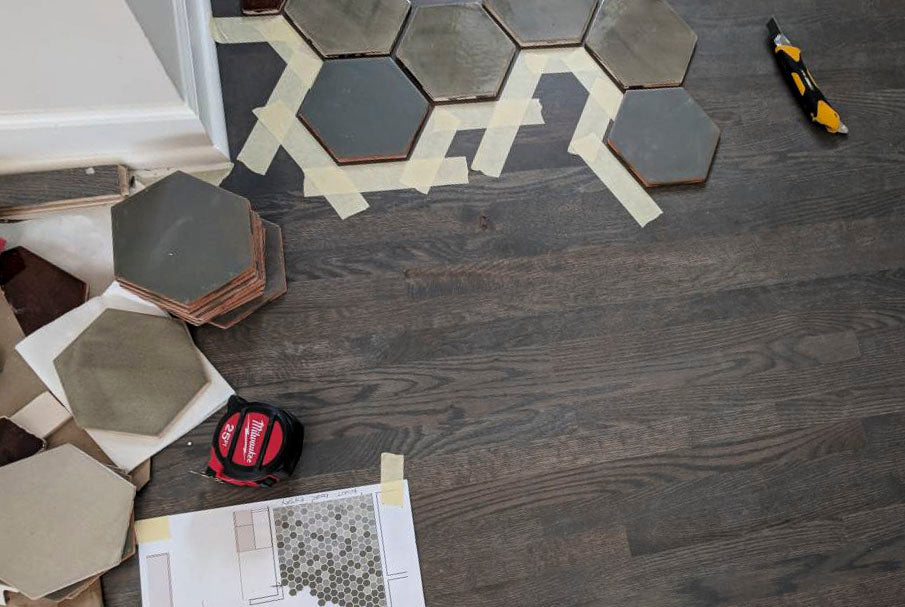 How To Floor Transition From Tile To Wood Mercury Mosaics