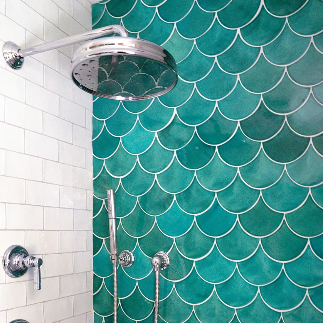 Large Moroccan Fish Scale Shower