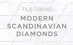 Tile Trend: Modern Scandinavian Diamonds