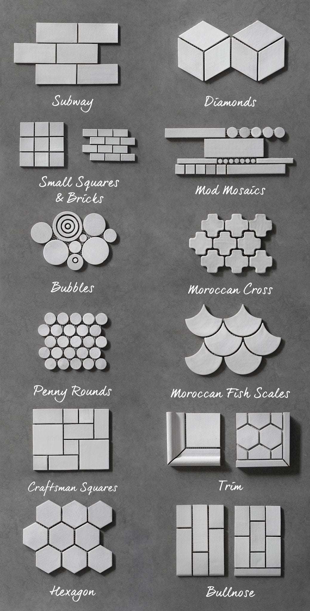 Ceramic Tile Guide Mosaic Tile Shapes Amp Sizes Mercury