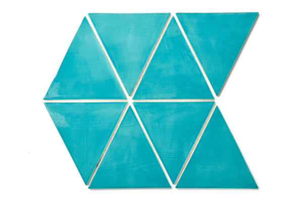 blue triangle tile